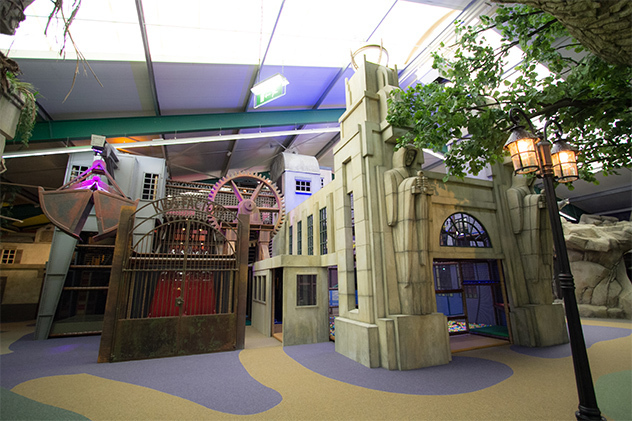 Indoor playground with theming