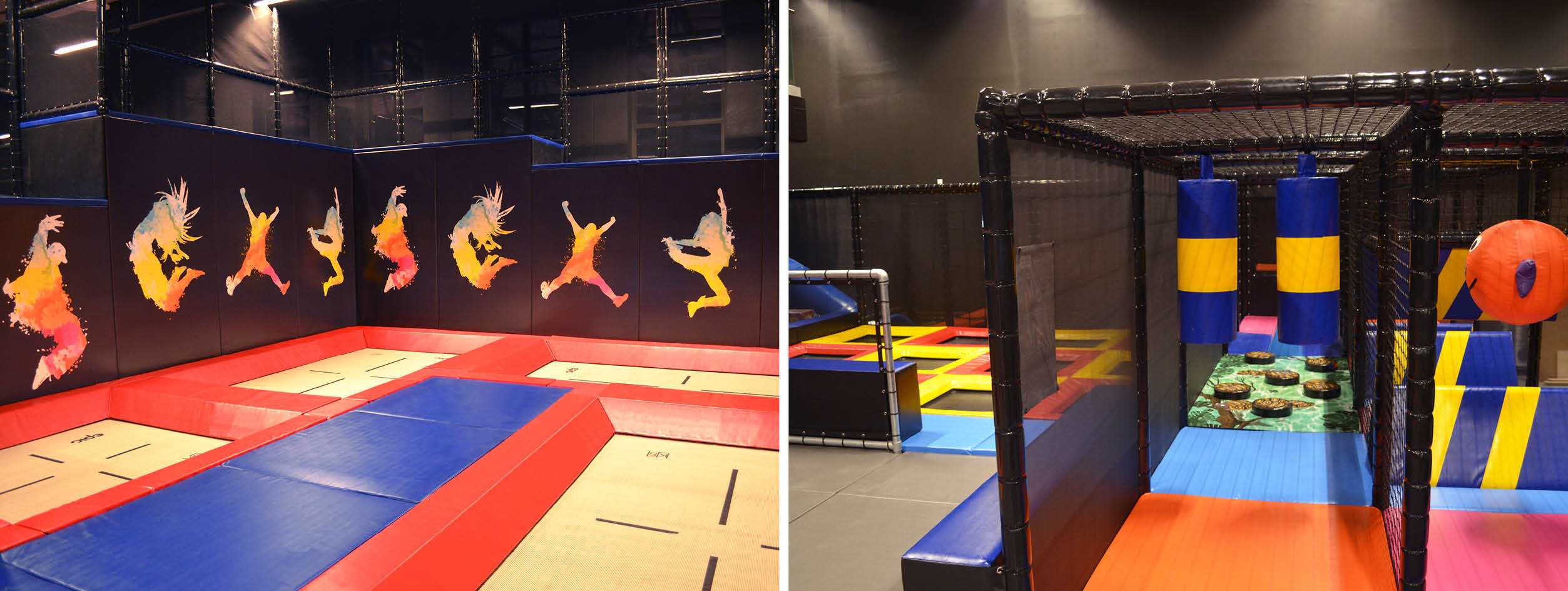 Trampoline park EPIC with Kids Ninja Course