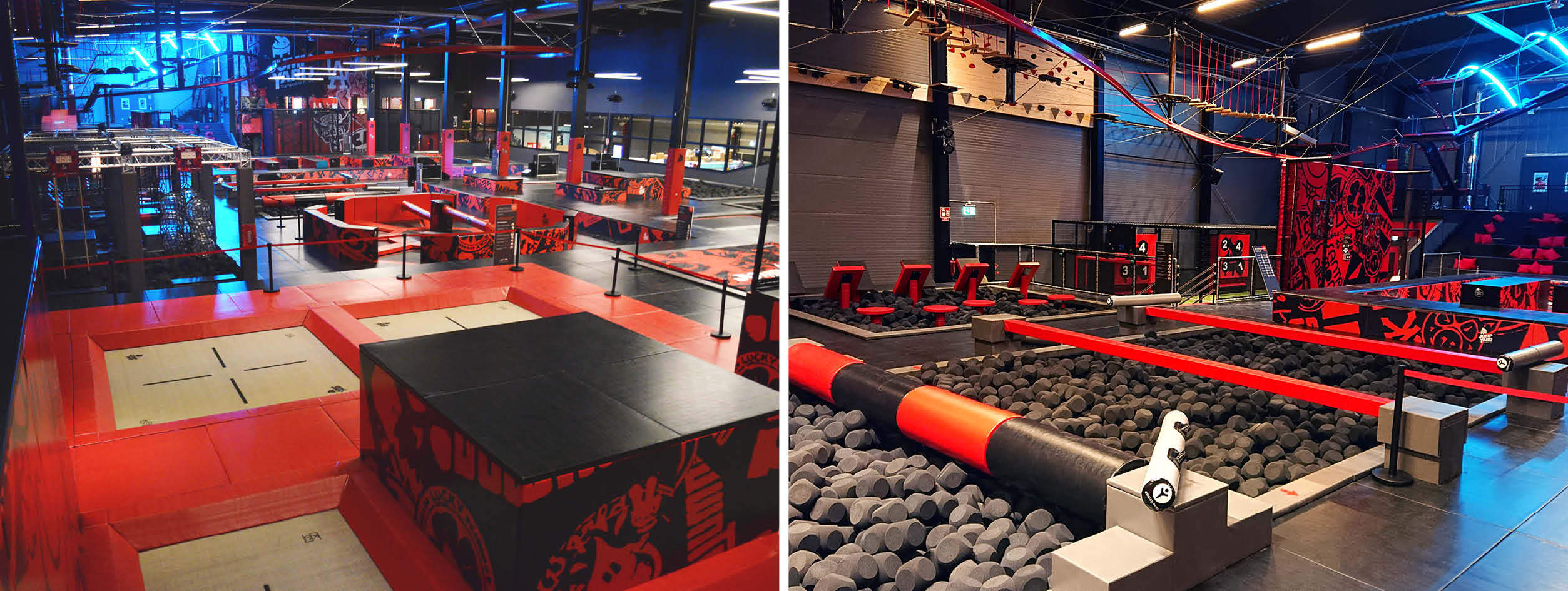 Trampoline park Jump Yard Västerås installed by ELI Play
