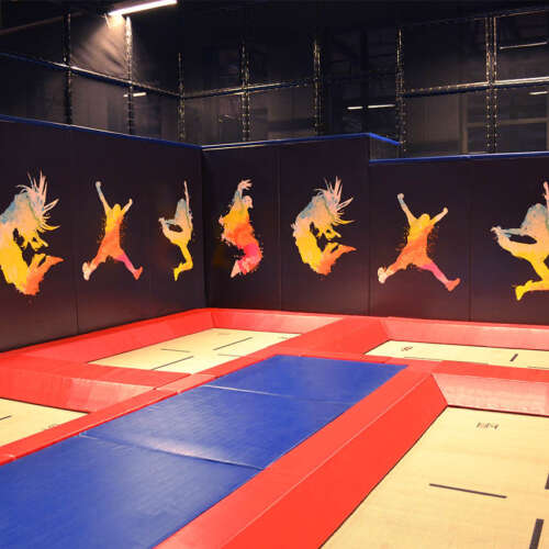 High performance trampolines walk wall