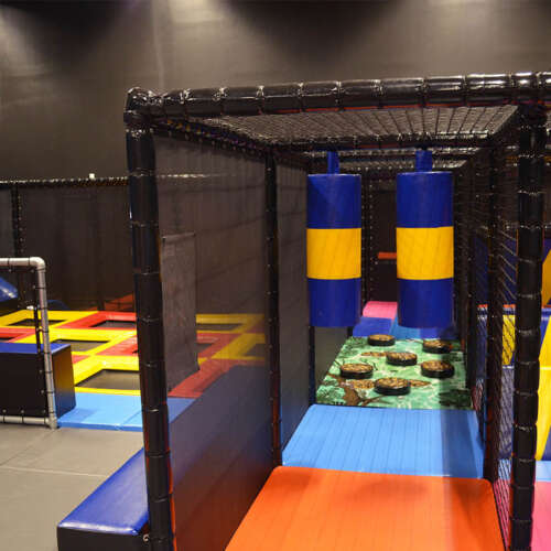 Kids trampolines and Ninja Course